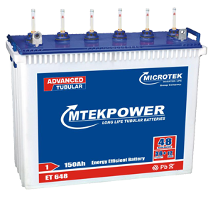 Microtek ET 648 150AH Mtek power Tall Tubular Battery