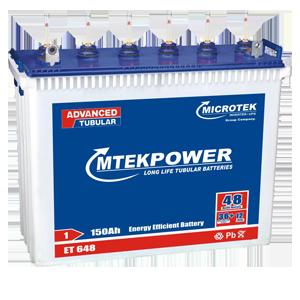 Microtek ET 648 150AH Mtek power Tall Tubular Battery