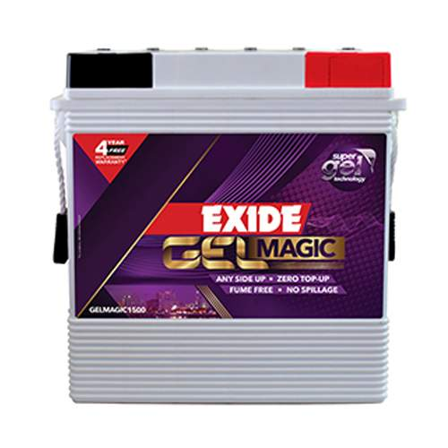 Exide Gel Magic 1500 Tall Tubular Battery 150AH