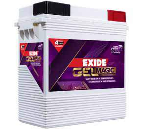 Exide gel magic 150 ah tall tubular battery