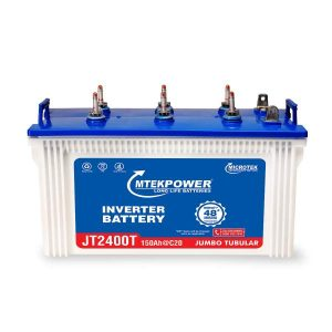 Microtek JT 2400T 150AH Mtek power Short Tubular Battery