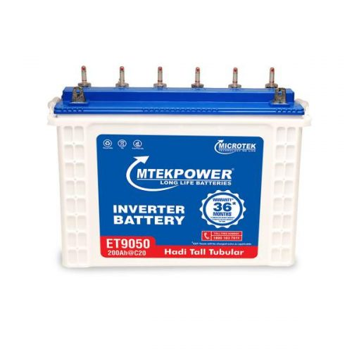 Microtek ET 9050 200AH Mtek power Tall Tubular Battery