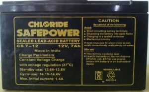 Exide SMF Battery 7AH / 12 Volt Chloride Safe Power