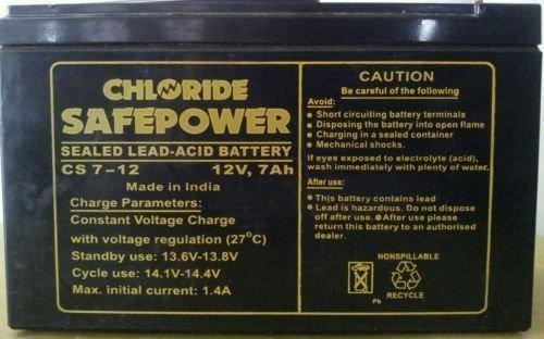 Exide Chloride 12 volt 7AH CS7