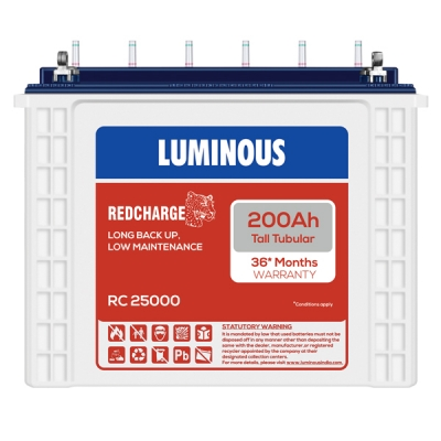 Luminous 200AH Red Charge 25000 Tall Tubular Battery