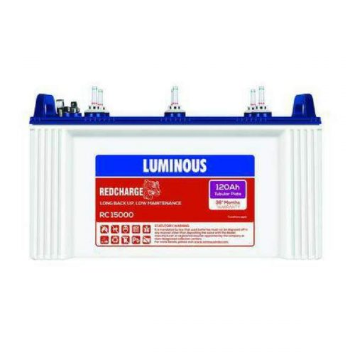 Luminous Red Charge RC 15000 120AH Tubular Battery