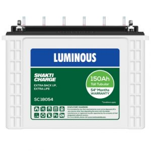 Luminous SC 18054 150AH Tall Tubular Battery