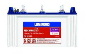 Luminous Red Charge 15000 120AH Tubular Battery