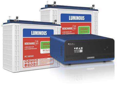 Luminous 1700 Inverter+150AH Double Battery Combo