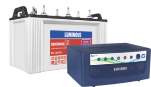 Luminous 850VA+120AH Inverter battery Combo