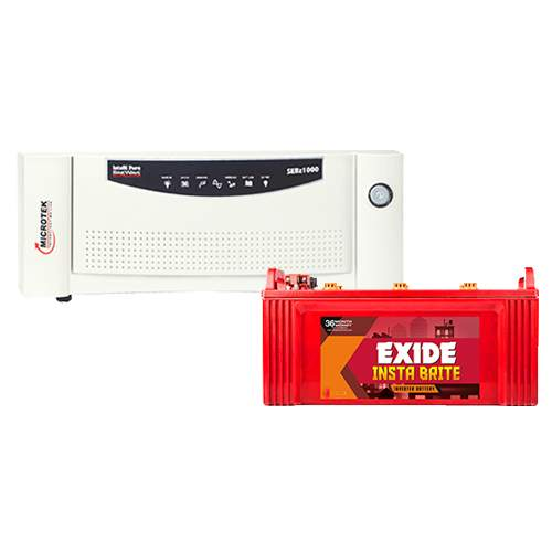 Microtek Inverter with Exide Battery Combo 1000VA+100AH