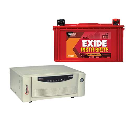 Microtek 900VA Inverter+Exide 100AH battery Combo