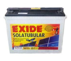 Exide 6LMS150 150AH solar battery