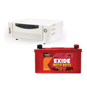 Microtek Inverter with Exide Battery Combo 700VA+88AH