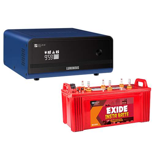 Luminous Zelio 1100 with Exide InstaBrite 150AH Combo