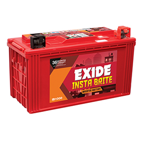 Exide Insta Brite IB1000 100AH Battery Best Price Online at Olive Power