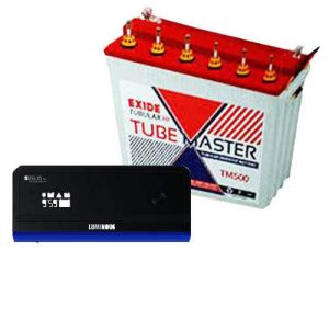 Exide 150AH Tall Tubular With Luminous 1100VA Combo