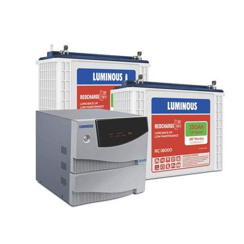 Luminous 2KVA Inverter with 150AH Double Battery