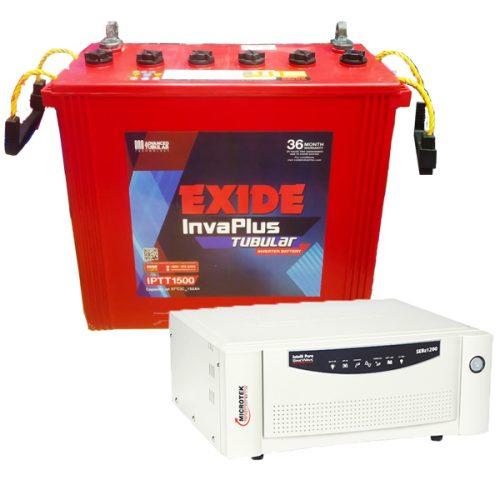 Microtek Inverter with Exide Battery Combo 1100VA+150AH