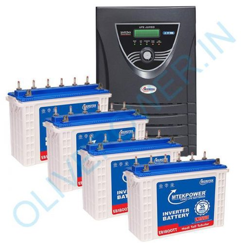 Microtek JUMBO JM SW 4000 Inverter with 4 Battery Combo