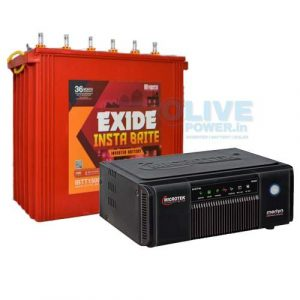Exide inverter battery combo