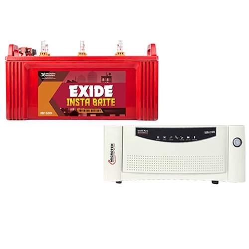 Microtek 1200VA with Exide Instabrite 150AH Combo