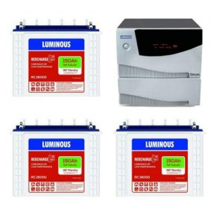 Luminous 2.5KVA Inverter with 150AH 3 Batteries