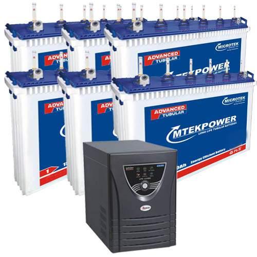 Microtek 5.7KVA Inverter with 150AH 6 Batteries