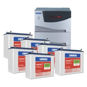 Luminous Inverter Cruze 5.2KVA with Luminous Redcharge RC 18000 150AH 6 Batteries