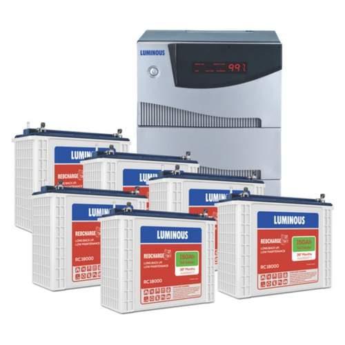 Luminous Inverter Cruze 5.2KVA with Luminous Redcharge RC 18000 150AH 6 Batteries