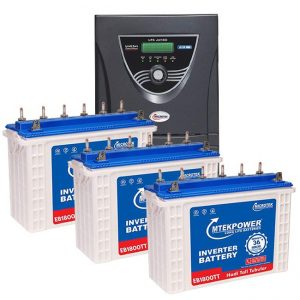 Microtek JUMBO JM SW 3000 Inverter with 3 Battery Combo