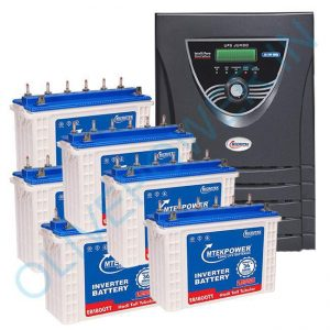 Microtek JUMBO JM SW 6000 Inverter with 6 Battery Combo