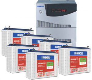 Luminous 5.2KVA Inverter with 150AH 6 Batteries