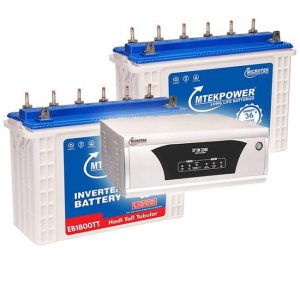 Microtek Inverter 2300 with 150AH Tall Tubular Double Battery Combo