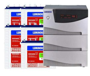 Luminous 5.2KVA Inverter with 150AH 6 Batteries