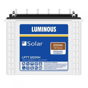 Luminous Solar LPTT 12100H 100 Ah C10 Tall Tubular battery