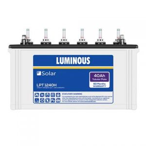 Luminous Solar LPTT 1240H 40 AH C10 Tubular battery