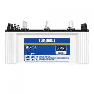 Luminous Solar LPTT 1275H 75 Ah C10 Tall Tubular battery
