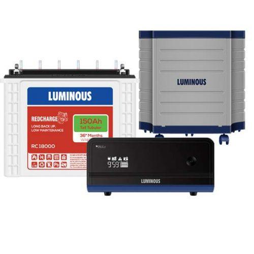 Luminous 1100+150AH+Trolly Combo