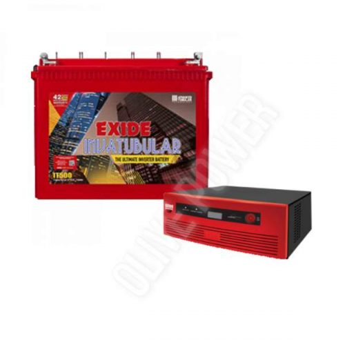 Exide 1050VA Inverter With Exide 150AH IT500 Combo