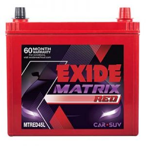 Exide Matrix Red MTRED45L 45Ah Car Battery