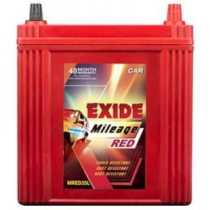 Exide Mileage Red MRED35L 35Ah Car Battery
