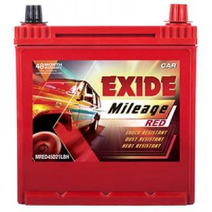 Exide Mileage Red MRED45D21LBH 45Ah Car Battery