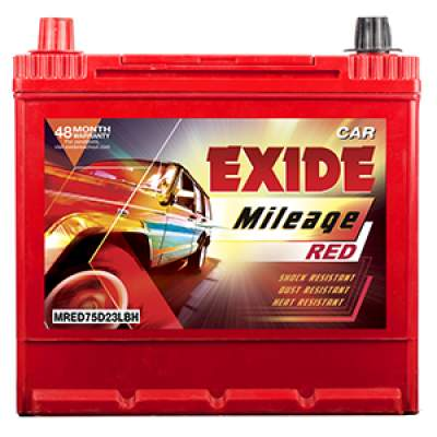 Exide Mileage Red MRED75D23LBH 68Ah Car Battery