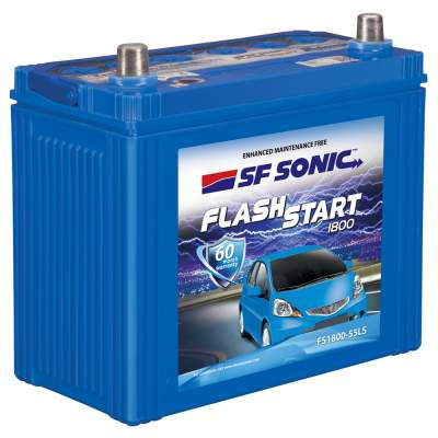 SF Sonic Flash Start 45Ah FS1800-55LS Car Battery