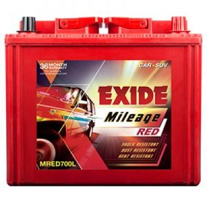 Exide Mileage Red MRED700L 65Ah Car Battery