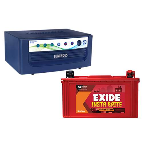 Luminous Inverter Eco Volt 1050+Exide Battery 100 AH Combo