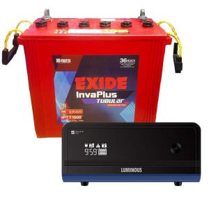 Luminous Zelio 1100 wtih Exide Battery 150AH Tall Tubular Combo