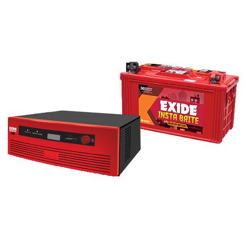 Exide 1050VA Inverter With Exide 100AH Combo
