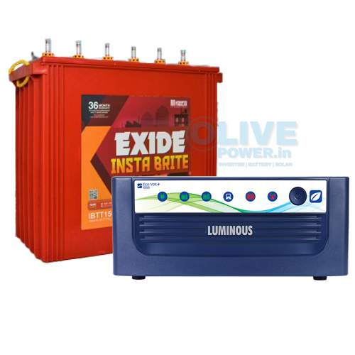 Exide inverter battery combo
